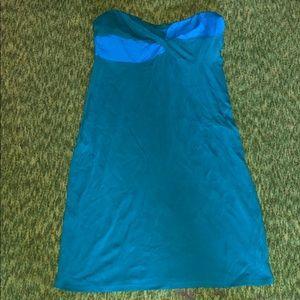 Strapless twist top dress